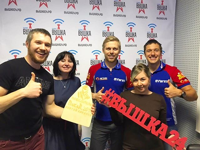 Победитель ралли-марафона Дакар Сергей Карякин в прямом эфире у учеников курса Медиастрат!